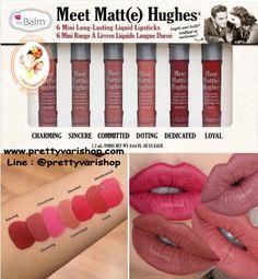 The Balm Meet Matte Hughes 6 mini Long Lasting Liquid Lipstick Set **Limited Edition** 790 บ. เซ็ทลิปแมท 6 สีขายดีของเดอะบาล์ม ในขนาดพกพา เซ็ทเดียวสวยได้ทั้งอาทิตย์ไม่ซ้ำสี คุ้มมาก ด้วยเป็นสุดยอดลิปแมทที่ได้รับการยอมรับจากบล็อคเกอร์ทั่วโลก ว่าเป็นเนื้อแมทที่เนียนสวยมากๆ ติดทน เคลือบริมฝีปากได้อย่างเป็นธรรมชาติ ทาแล้วปากไม่แห้งแตกตกร่องเหมือนลิปแมททั่วไป เป็นเซ็ทลิมิเต็ดผลิตออกมาจำนวนจำกัด เฉพาะช่วงนี้เท่านั้นนะคะ #Charming #Sincere #Commited # Doting #Dedicated #Loyal  Line @prettyvarishop