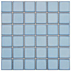 SomerTile 11.875x11.875-in Ocean Square 2-in Caribbean Porcelain Mosaic Tile (Pack of 10) | Overstock™ Shopping - Big Discounts on Wall Tiles