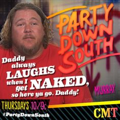 Why is Murray naked? Watch the #PartyDownSouth Season 2 Premiere and find out! Right now on CMT!!