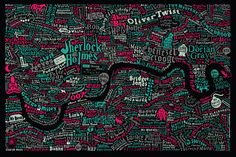 daysofstorm:  London Literary Map (x)
