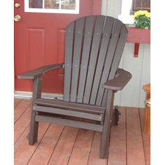 adirondack chair modern style made from poly wood extrakt aus