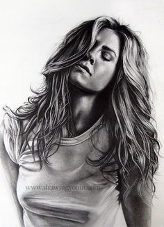 Jennifer Aniston Drawing by Jacolina