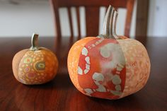 Finished pumpkin pin cushions by B's Modern Quilting, via Flickr