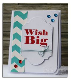 clean and simple card using a sentiment stamp from CAS-ual Fridays Stamps and patterned paper from Echo Park