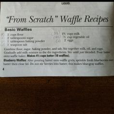 Simple waffles
