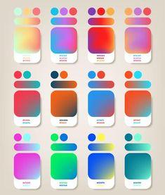 Paquete de colores degradados Color Schemes Colour Palettes, Colour Pallete, Graphic Design Tips, Graphic Design Posters, Mise En Page Web, Color Palette Challenge, Colouring Techniques, Colour Board, Design Tutorials