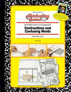 Dinah-Might Adventures Store - Dinah Zike's Notebooking Central Notebook Foldables Contractions and Confusing Words, $16.95 (http://dinah.mybigcommerce.com/dinah-zikes-notebooking-central-notebook-foldables-contractions-and-confusing-words/)