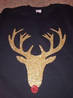 Golden Reindeer by SparkleMonogram on Etsy