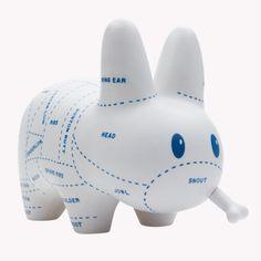 Choice Cuts Labbit - Frank Kozik x Kidrobot Vinyl Toys, Vinyl Art, Frank Kozik, Plastic Shop, Robots For Kids, Cute Toys, Designer Toys, Paper Toys, Urban