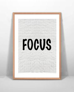 Digital Art Focus Print Office Inspirational by BrickLaneQuotes Motivational Wall Art, Wall Art Decor, Letter Board, Digital Art, Inspirational, Words, Etsy, Horse