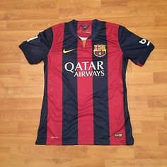 Barcelona-FC-FCB-Nike-Dri-Fit-2014-Shirt-Jersey-Soccer-Football-Mens-Medium
