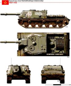 Military Art, Military History, Isu 152, Tank Destroyer, Ww2 Tanks, Red Army, Military Equipment, Panzer, Armored Vehicles