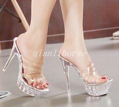 f767bbe0a8372a Womens Flip Flops High Heel Slippers Platform Summer Wedge Sandals Beach  Street
