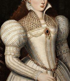 Portrait of A Lady - Attributed to Frans Pourbus the Younger Renaissance Fashion, Renaissance Clothing, Renaissance Art, Historical Clothing, Fashion History, Fashion Art, 17th Century Clothing, Elizabethan Era, Renaissance Paintings