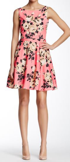 Rose fit & flare dress