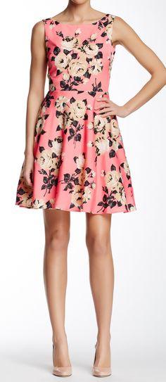 Rose fit & flare dress