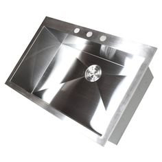 Stainless Steel Brushed Satin 33-inch Single Bowl Topmount Drop-in Zero Radius Kitchen Sink -- at 10-inches deep this could be a nice utility sink option for the a laundry room too