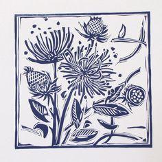 Plaque de linogravure pour imprimer vous même les jolis motifs de la créatrice