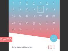 Calendar App on UI Space