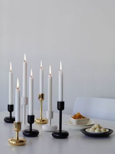 iittala Nappula White Candle Holders– Set of 2 If you can't decide between the shorter or taller version of the iittala Nappula Candle Holders, this set is the perfect package. It includes one 11 cm candle holder and one 18 cm candle holder in a cl. Candles, Lantern Candle Holders, Glass Museum, White Candle Holders, Gold Candle Sticks, Candlesticks, Modern Candle Holders, White Candles, Scandinavian Candles