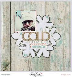 It's cold outside | Scrapbooking Layout | Evelyn Wolff (@evelynlafleur) | Dezember-Kit der Scrapbook Werkstatt