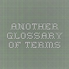 Another glossary of terms