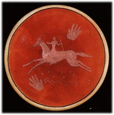 Hand painted SPIRIT RIDER drum, Native American Native American Actors, Native American Fashion, Native American History, Native American Indians, Skin Paint, Indian Quilt, Indian Artifacts, Nativity Crafts, Southwest Art