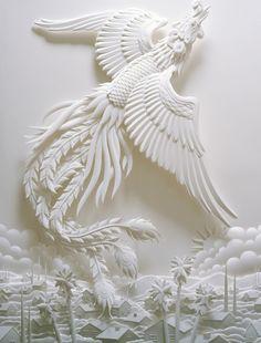 Phoenix paper sculpture.
