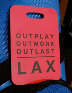 Lacrosse LAX Bag Tag Sport Tag Outplay Outworkt by FlipTurnTags