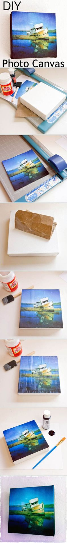 These DIY Photo Canvas pictures are a great budget way to decorate!