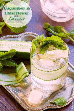Cucumber and Elderflower Collins Recipe | DeliciousEveryday.com