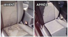 Les sièges sont les plus gros ramasse-poussières dans une voiture ! On y trouve tout un tas de saletés non-identifiées... Des miettes, des poils de chien, des taches de boisson, de nourritures ...