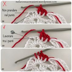 9 Tips for knitting – By Zazok Crochet Potholder Patterns, Crochet Snowflake Pattern, Christmas Crochet Patterns, Crochet Snowflakes, Granny Square Crochet Pattern, Crochet Christmas Decorations, Crochet Symbols, Form Crochet, Crochet Geek