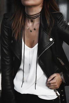 277034758bc09 How to wear a leather biker jacket