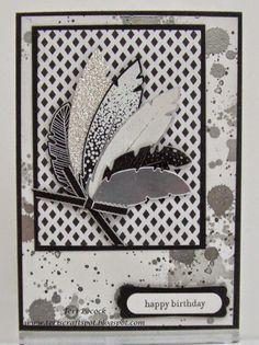 Stampin' Up! - Four Feathers - Birthday Card Teri Pocock - http://teriscraftspot.blogspot.co.uk/2014/11/four-feathers-birthday-card.html