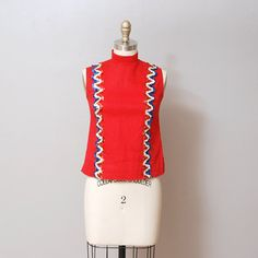 1960s Americana Tank  Sequin Marching Band by OldFaithfulVintage, $30.00