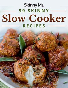 99 Skinny Slow Cooker Recipes! #slowcookerrecipes #crockpotrecipes #skinnyslowcooker