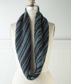 Diagonal Striped Garter Stitch Loop - Ultra Alpaca Chunky Version – Churchmouse Yarns & Teas