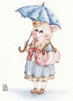 best Ideas for funny christmas animals girls Art Quotes Funny, Funny Animal Memes, Funny Animals, Cute Animals, Pig Illustration, Illustrations, This Little Piggy, Little Pigs, Christmas Animals