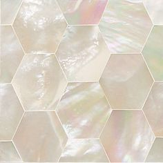 Buy the Daltile Mother Of Pearl Direct. Shop for the Daltile Mother Of Pearl Ocean Jewels - x Hexagon - Smooth Glass Visual and save. Honeycomb Tile, Hexagon Tiles, Hexagon Pattern, Mother Of Pearl Backsplash, Decorative Tile, Decorative Accents, Mother Pearl, Mother Of Pearls, Accent Decor