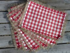 Handmade Laura Ashley Scarlet Gingham Hessian Shabby Chic Placemat set Christmas in Home, Furniture & DIY, Cookware, Dining & Bar, Tableware, Serving & Linen | eBay