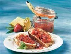 Confiture de fraises et d'ananas au parfum de basilic sur Wikibouffe