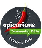 """We're so excited! Lesley's blog has just been awarded both the """"Top Contributor"""" and the """"Editor's Choice"""" badges from the Epicurious Table! Check it our page there and have a peek at all the other fabulous finds in the community."""