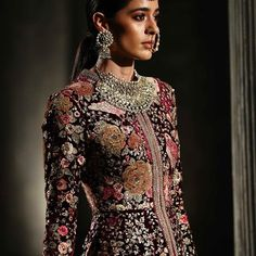 "Sabyasachi Mukherjee's ""Firdaus"" FW 2016 Fashion Show in Collaboration with Christian Louboutin Indian Attire, Indian Wear, Indian Style, Pakistani Outfits, Indian Outfits, India Fashion, Asian Fashion, High Fashion, Indian Photoshoot"