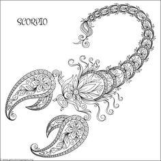 Free download Zodiac Sign Scorpio Coloring Pages #coloring #coloringbook #coloringpages #zentangle #zodiacsigns