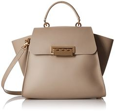 ZAC Zac Posen Eartha Iconic Top Handle Shoulder Bag, Beige, One Size - READ ADDIITONAL INFO @: http://www.passion-4fashion.com/handbags/zac-zac-posen-eartha-iconic-top-handle-shoulder-bag-beige-one-size/