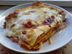 Dit blijft wel mijn favoriete Lasagne recept. Alleen vervang ik de Bechamelsaus door creme fraiche