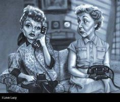 I Love Lucy Cartoon | Cartoon: I Love Lucy (medium) by tobo tagged tv,caricature
