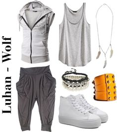 """Outfit inspired by: Luhan in Exo's """"Wolf"""" MV."""