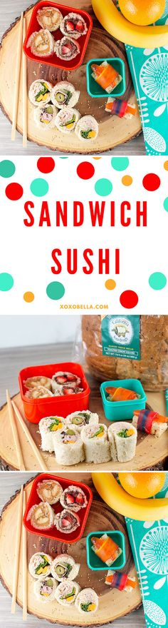 Sandwich Sushi with @cagoldminer sourdough bread.  #Switch2Sourdough #ad  xoxoBella.com